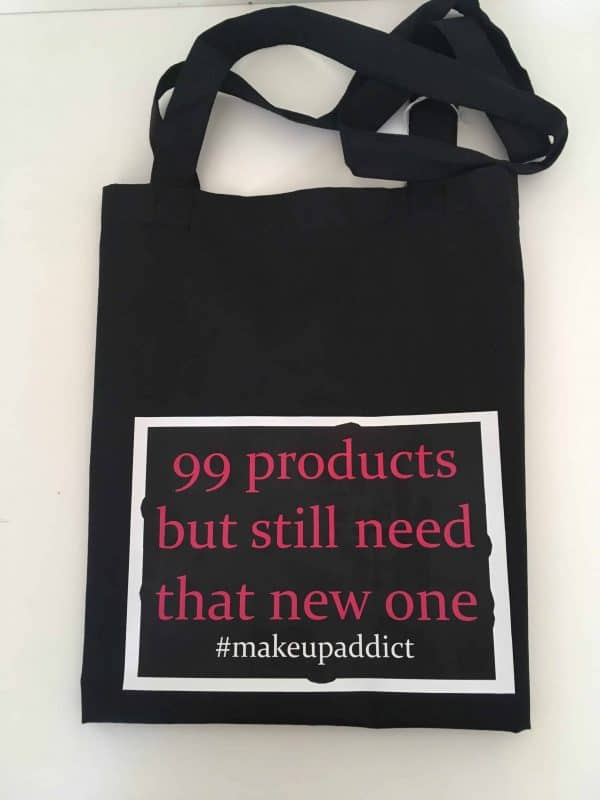 99 products but still need that one Make up logo tote bag