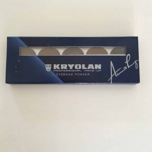 Kryolan eyebrow powder palette 5 colours