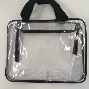 Clear pvc large size bag with straps
