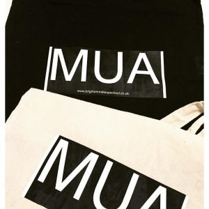 Exclusive Make Up logo tote bags